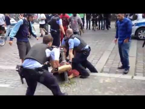 brutaler Polizeiübergriff, 5. Juli 2014, Berlin Kreuzberg (Görlitzer Park)