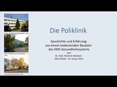 Die Poliklinik - Geschichte und Erfahrung aus einem bedeutenden Baustein des DDR-Gesundheitssystems