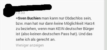 Es gibt keine deutschen Obdachlosen