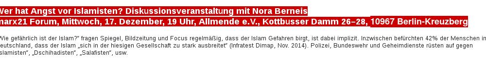 Wer hat Angst vor Islamisten