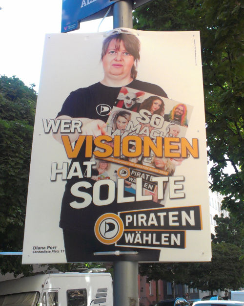 Wahlplakat der Piraten Berlin